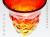 琉球ガラスの赤色ワイングラス