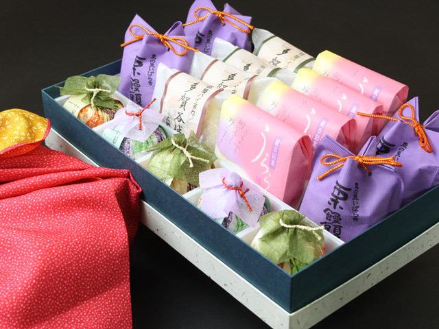 翁屋和菓子詰合せ【風呂敷包みひな祭り】