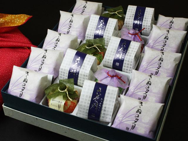 最中・菓音・六花の精詰め合わせ20【風呂敷包みひな祭り】