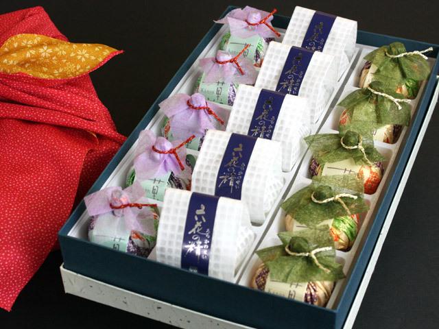 風呂敷包みの菓音・六花の精翁屋和菓子詰め合わせM