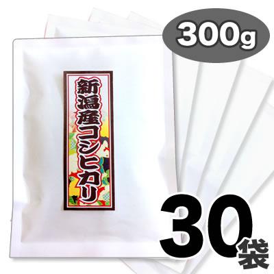 30年産新潟県産コシヒカリ 花火 300g×30袋 一人暮らしセット