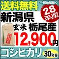 新米28年産新潟県栃尾産コシヒカリ玄米30kg