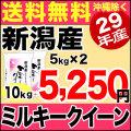 【新米】29年産新潟県産ミルキークイーン 10kg(5kg×2)