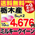 29年産栃木県産ミルキークイーン 10kg(5kg×2)