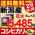 29年産新潟産コシヒカリ花火 10kg(5kg×2)