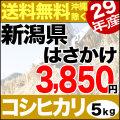 【地域限定】29年産新潟県産自然乾燥コシヒカリ あらいのはさかけ 5kg