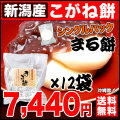 【丸餅】新潟県産こがねもちシングルパック 11枚入×12袋セット