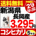 【新米】29年産新潟県長岡産コシヒカリ 5kg