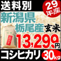 【地域限定】29年産新潟県栃尾産コシヒカリ玄米 30kg【送料別】