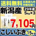 29年産新潟県産こしいぶき 15kg(5kg×3)