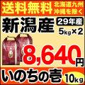 29年産 ありがとう三米 10kg(5kg×2) (品種名:いのちの壱)
