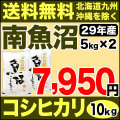 【地域限定】29年産新潟県南魚沼産コシヒカリ 10kg(5kg×2)