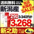 29年産新潟県産 新之助 4kg(2kg×2袋)【お買い得セール】