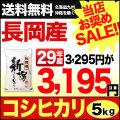 29年産新潟県長岡産コシヒカリ 5kg【お買い得セール】