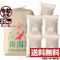 【新米】令和元年産 新潟産コシヒカリ山並 玄米 小分け5袋 25kg