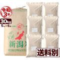 新米 令和3年産 新潟産コシヒカリ山並 玄米 30kg 小分け6袋【送料別】