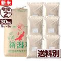 新米 令和2年産 新潟産コシヒカリ山並 玄米 30kg 小分け6袋【送料別】