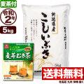 【麦茶付き】令和2年産 新潟県産こしいぶき 5kg