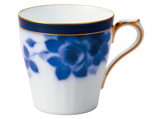 大倉陶園100周年記念ブルーローズ マグカップ
