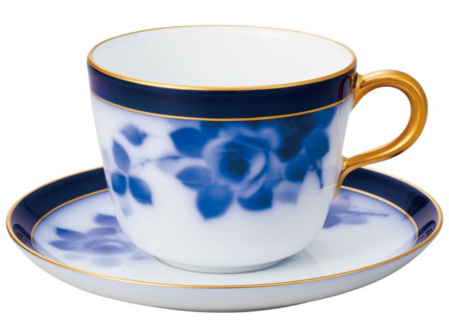 大倉陶園100周年記念ブルーローズ モーニングカップ&ソーサー