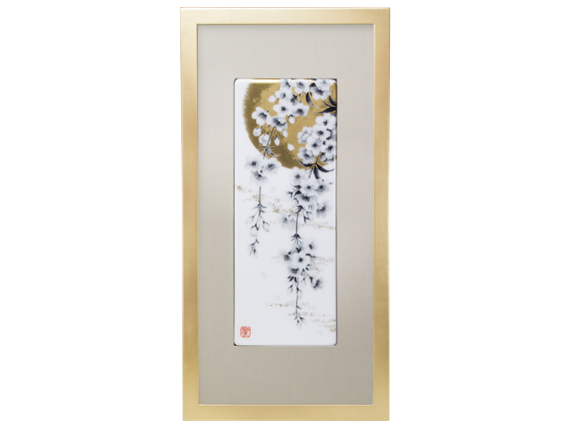 陶額 「月見桜」