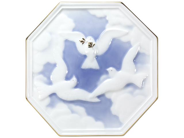 100周年カウントダウンコレクション第3弾 「オリーブと鳩」 レリーフ陶板