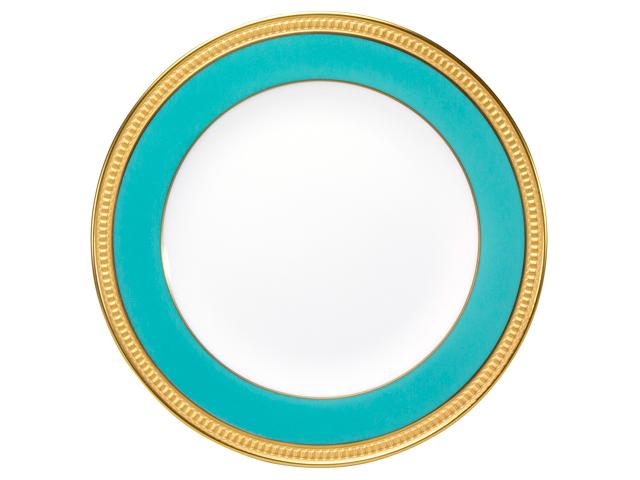 色蒔エンボス ライトブルー 20cmケーキ皿