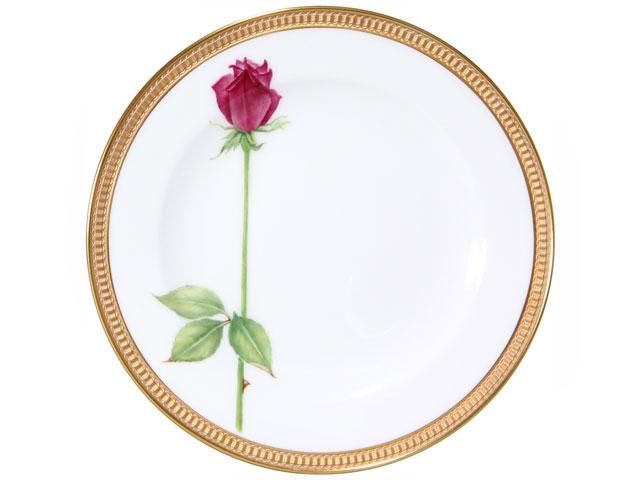 【手描き】一本の薔薇(レッド) 20cmケーキ皿