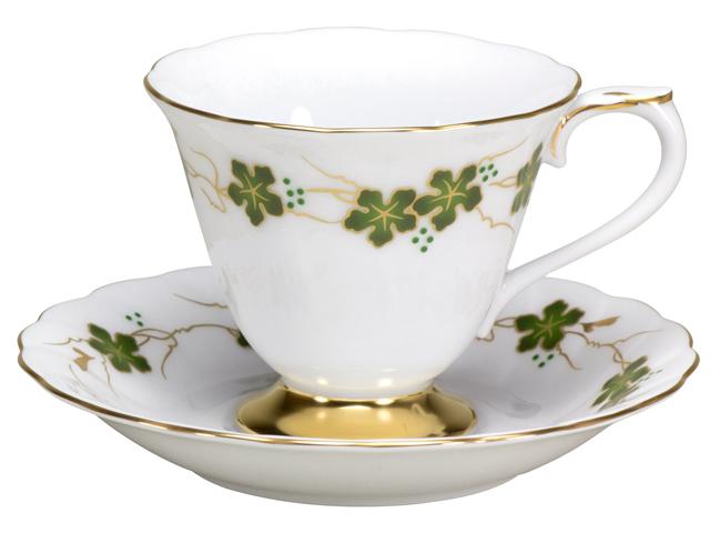 100周年カウントダウンコレクション第3弾 「上絵色盛野葡萄」 コーヒーカップ&ソーサー