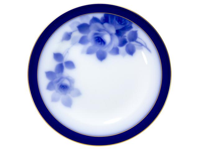 大倉陶園100周年記念ブルーローズ 17cmパン皿