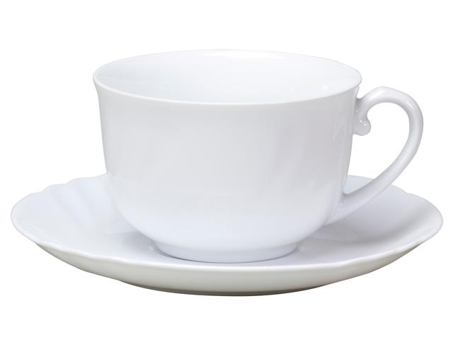 <直営店限定>ジャネットホワイト モーニングカップ&ソーサー