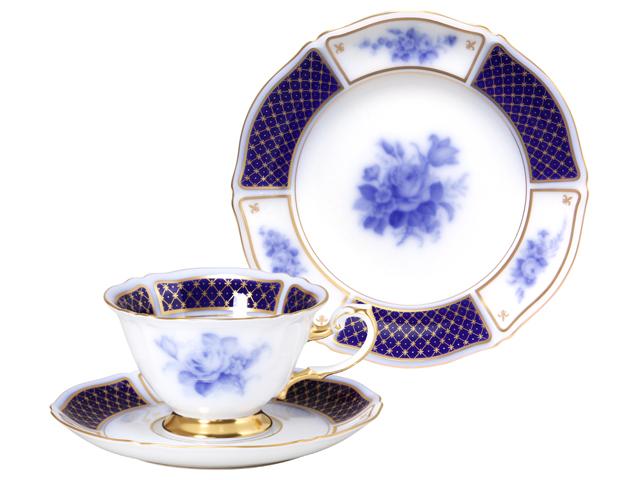 THE OKURA 「ブルーインペリアル」カップ&ソーサー、ケーキ皿セット