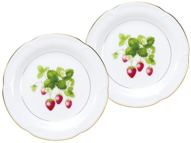 <直営店限定>ジャムの実コレクション「いちご」 14.5cmプチケーキ皿ペア