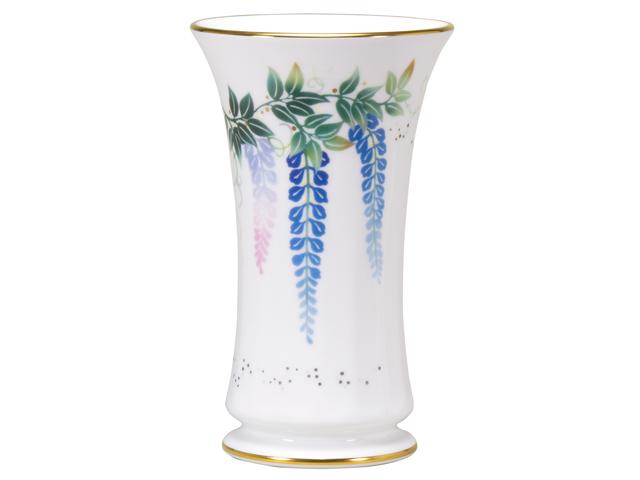 復刻コレクション第2弾 「上絵色盛藤図」 23cm花器