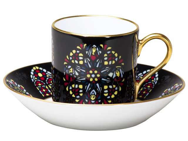 即興詩人「修道院とステンドグラス」 デミタスカップ&ソーサー