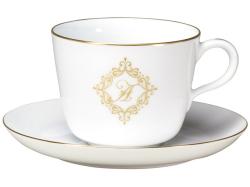 【大倉陶園】プリンセス・ティアラ モーニングカップ&ソーサー