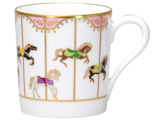 「うまくゆく 回転木馬」ピンク マグカップ