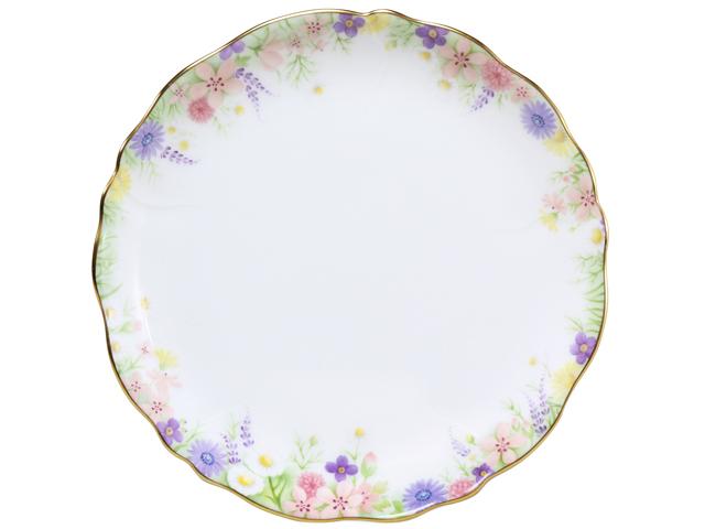 <直営店限定>【手描き】ブルーミング ケーキ皿