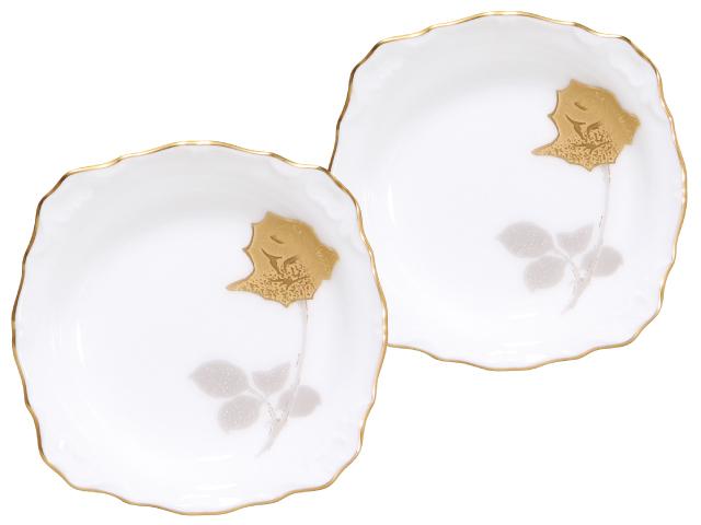 <直営店限定>金蝕バラ 10cmレリーフ小皿ペアセット
