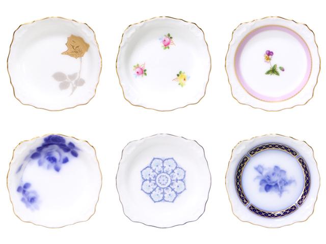 大倉陶園技法シリーズ小皿揃 6枚組