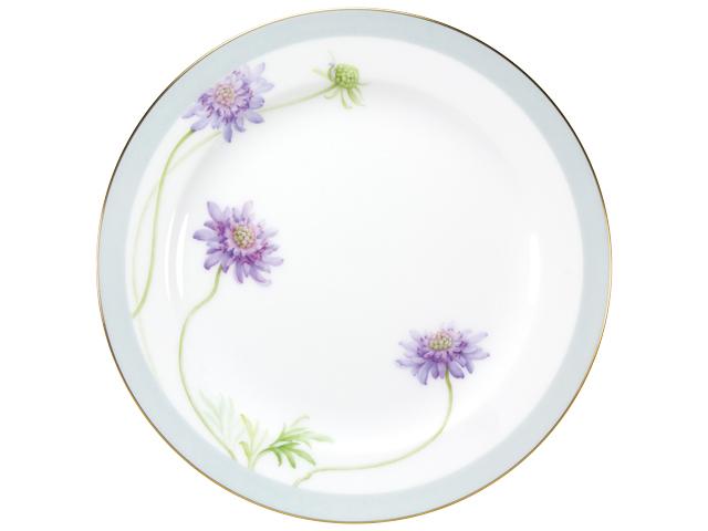 <直営店限定>【手描き】軽井沢の休日「マツムシソウ」 26cmミート皿