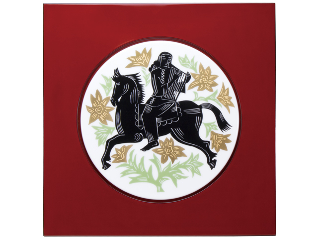 ■予約■復刻コレクション第1弾 「騎馬楽人図」 陶額