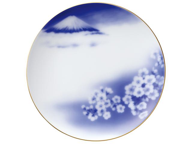 『花見富士』 23cmプレート