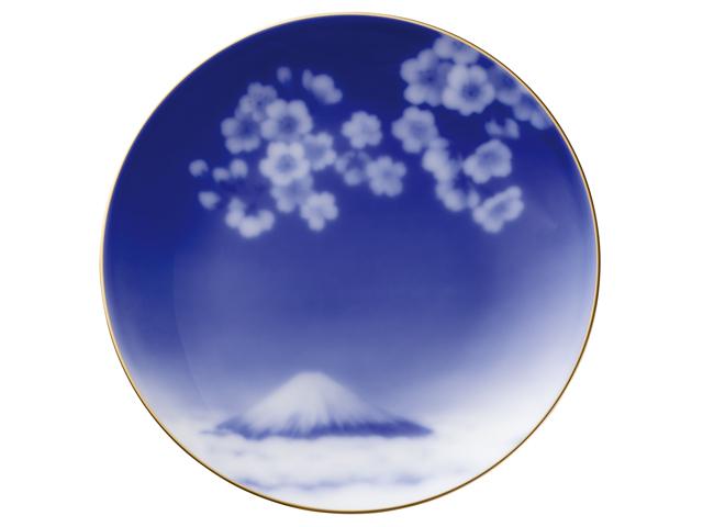 『花見富士』 16cmプレート