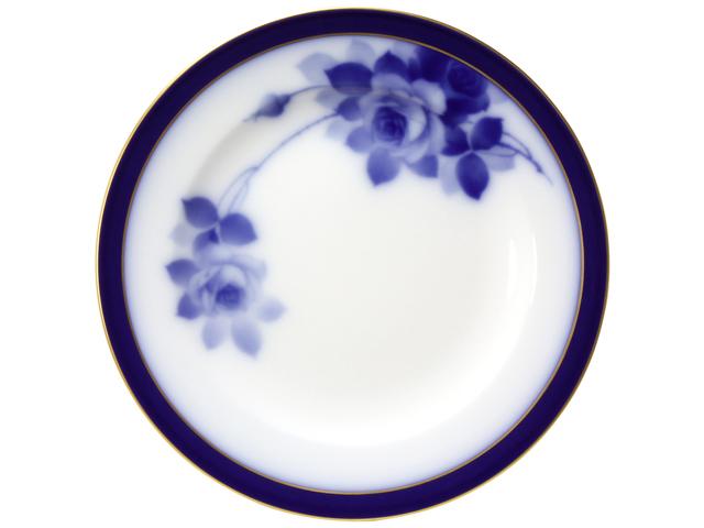 大倉陶園100周年記念ブルーローズ 20cmケーキ皿