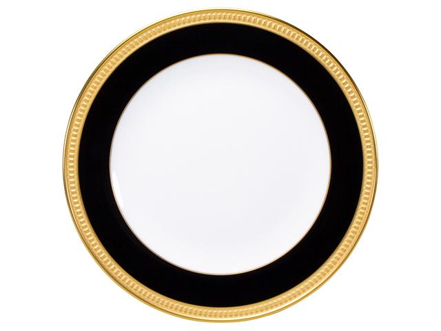 色蒔エンボス ブラック 20cmケーキ皿