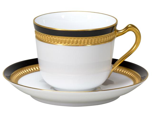 色蒔エンボス ブラック コーヒーカップ&ソーサー