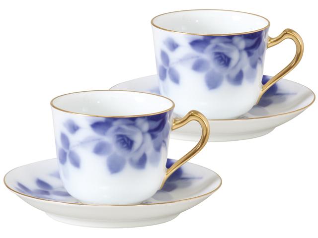 ブルーローズ(8011) コーヒーカップ&ソーサーペアセット