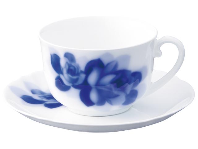 ブルーローズジャネット モーニングカップ&ソーサー