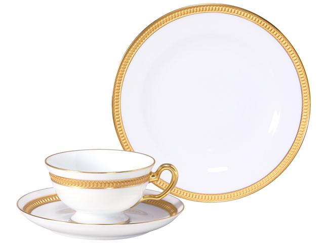 クラウン(エンボス) カップ&ソーサー・20cmデザート皿